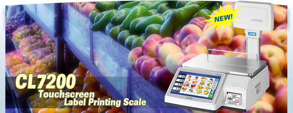 CAS CL7200 Touchscreen Label Printing Scale